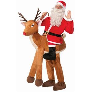 Santa Ride a Reindeer Adult Costume