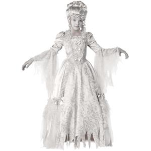 Deluxe Victorian Corpse Countess Girls Child Costume Dress Size 6