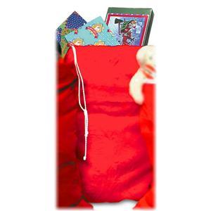 "Santa Claus Red Plush Toy Bag Christmas Accessory 29""x36"""