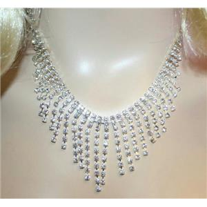 Rhinestone Necklace Glamorous Marilyn Fashion Costume Jewelry