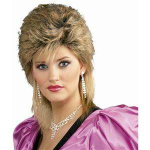80's Salon Wig Mixed Blonde