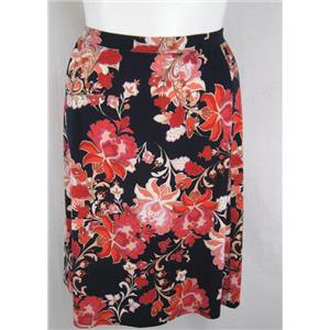 "Jaclyn Smith Woman Polyester 6 Panel Pull on Skirt w/1"" Full Elastic Waistband"
