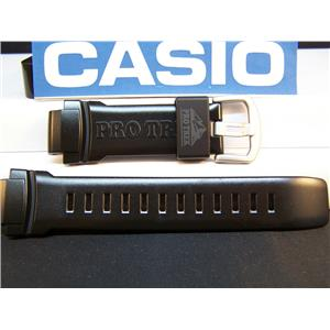 Casio Watch Band PRW-5050 Polished Shiny Black Resin Strap / Watchband