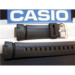 Casio watch band G-100, G101, G-200, G-2110, G-2300, G-2310 Black Resin Strap