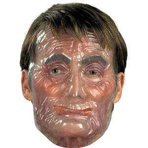 Transparent Old Male Man Plastic Adult Mask