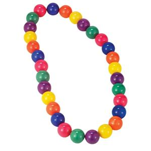 Circus Sweetie Colorful Jumbo Beads Multi Color Clown Necklace Costume Accessory