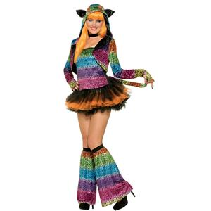 Women's Party Animal Lively Leopard Costume Size M/L