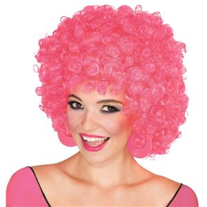 Pink Clown Afro Wig