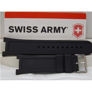 Swiss Army Watch Band Night Vision ll Model 241131 Swiss Made Black Rubber Strap