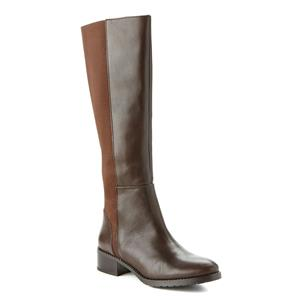 9.5 NIB Donald Pliner Boxer Knee Boot Expresso Baby Calf Leather w/Elastic Gores