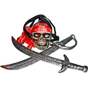 Swords with Skull Backpack Pirate Costume Accessory