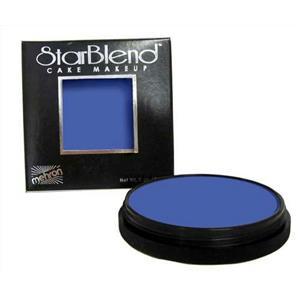 Mehron StarBlend Cake Foundation Professional Makeup Blue 2oz