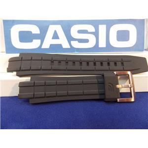 Casio Watch Band EFX-700 & EFX-500 Black Rubber Strap Edifice w/Bronze Tone bkl