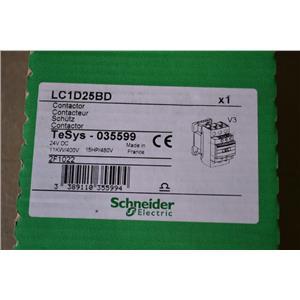 Schneider Electric LC1D25BD Contactor TeSys - 035599 24V DC 15HP/400V 2F1022