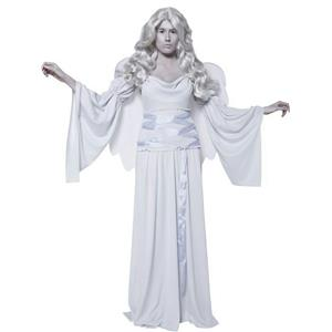 Women's Cemetery Angel Costume with Dress Wings and Sleeves Size Medium