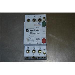 (Lot of 2) Allen Bradley 140-MN-0250 Ser C Motor Starter