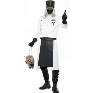 Men's Hell Asylum Dr. D Ranged Adult Deranged Doctor Costume Size Medium