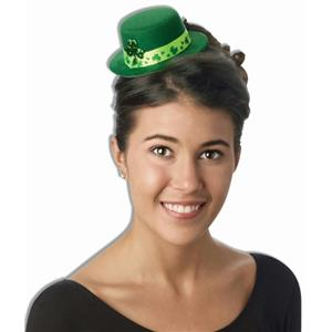 St. Patrick's Green Shamrock Mini Top Hat