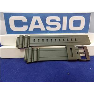 Casio Watch Band MRW-S300 H-3BV Miltary Green Rubber Strap. Watchband