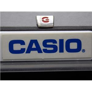 Casio Watch Parts G-2900 Light Button Polished Siver Tone w/Red G