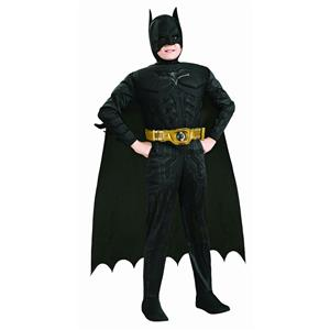 Deluxe Batman Child Muscle Chest Costume Size Large 12-14