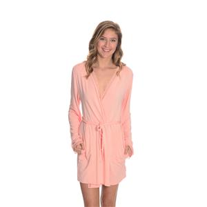 Sz 1 NEW Wildfox Bonjour Mon Cherie Hello My Dear Wrap Robe Pink Lace w/Gift Box