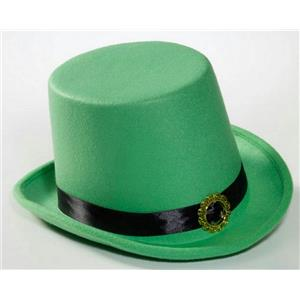 St Patrick's Green Leprechaun Top Hat