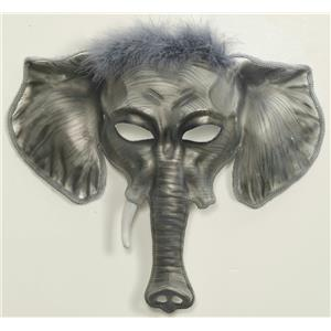 Gray Elegant Elephant Venetian Mask Adult Size