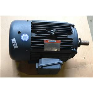 Leeson N 256T34FB12 Motor, 20HP, 3540 RPM, 208-230-460V, 256T, TEFC