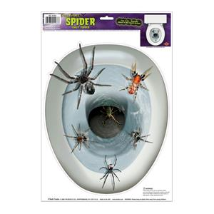 Peel 'N Place Spider Toilet Topper Joke Gag