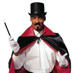 Large Black High Crown Perma Felt Costume Top Hat