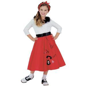 Jitterbug Girl 50's Child Costume Size Small 4-6