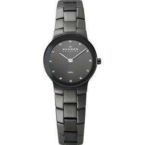 Skagen 430MSMXM. Women's Dress. 2-Hand Analog. Two-tone Black Bracelet