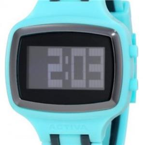 Activa AA400-002 by Invicta.Digital.50% Off.Sporty Retangle Black Dial.Polyurethane Turquoise Strap