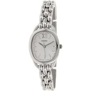 Fossil ES3598.Ladies Scluptor.Oval Silver Stainless Dial/Bracelet/Case.50 M Resist.