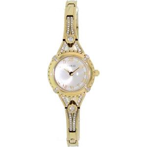 Guess U0135L2. Petite.Vintage-Inspired.Beige Dial. Gold Roman Numerials. Embellished Gold-Tone Case/