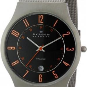 Skagen 233XLTTMO Men's Denmark. Titanium Sporty Grey Sunray Dial. Date. Mesh Bracelet.