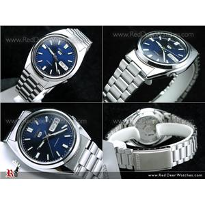 Seiko Men's SNXS77. Mechanical Automatic Movement. Luminous Blue Dial, Silver Tone Stainless Steel B
