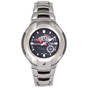 Casio G-Shock  G-1710 D. Stainless Steel Silver Tone Bracelet. Digital and Analog. World Time. Four