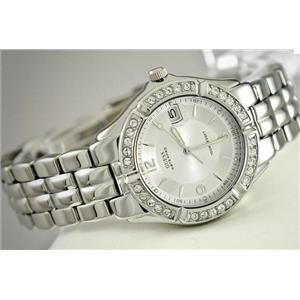Guess Women's G75511M.Chronograph.Luminous Hands.Bezel w/Crystal Accents.Stainless Steel Bracelet.10