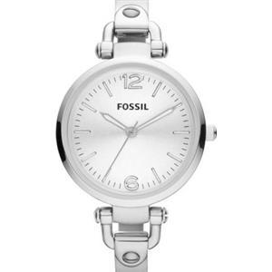"Fossil ES3083.Ladies ""Georgia"".Round White Dial.Silver-tone Stainless Steel Case-Bracelet.50m Resist"