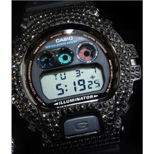 Casio G-Shock Men's DW6900-1VCT-B. Black Bling Bezel. Black Resin Bracelet. 200m Resist.