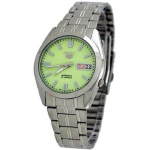 "Seiko Men's SNKK19. ""Seiko 5""  21 Jewel Automatic Movement. Stainless Steel Case/Bracelet. Luminous"