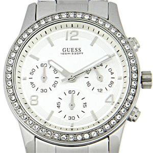 Guess Women's U13593L1.Chronograph.Silver Stainless Steel Bracelet.