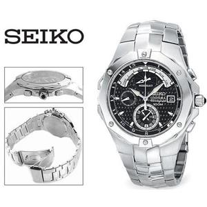 Seiko Men's SPC015. Coutura Advanced Chronograph Timer. Sapphire Crystal Silver Tone Stainless Steel