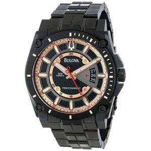 Bulova Men's 98B143. Precisionist Charcoal Grey Dial Bracelet Watch.