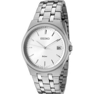 Seiko SGEF11P1. Gentlemen's Dress. White Dial. Stainless Steel Case/Bracelet.