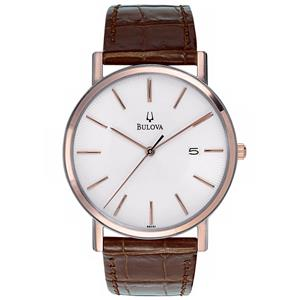 Bulova Men's 98H51. Strap Calendar Strap Watch.