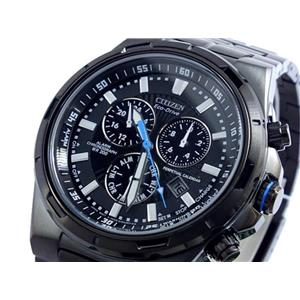"Citizen BL5435-58E. ""Perpetual"" Eco-Drive. Chronograph.Black Stainless Steel Bracelet/Case.Black Dia"