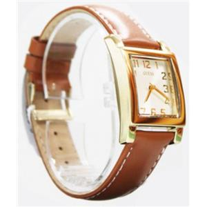 Guess U0204L2.Womens Gold Petite Square White Dial.Interchangeable Leather Straps.